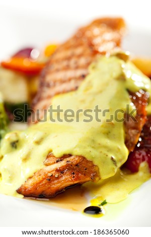 Grilled Salmon with BBQ Vegetables
