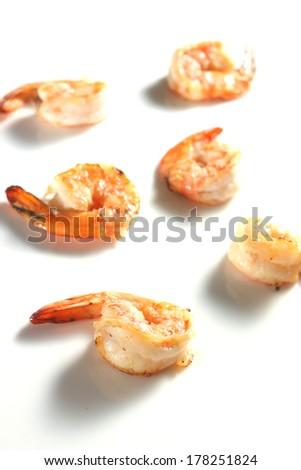 Grilled Shrimp - stock photo