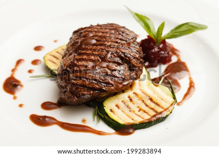 grilled steak - stock photo