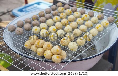 Grilled Sweet Potato (Thai Dessert) - stock photo