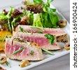 grilled tuna  - stock photo
