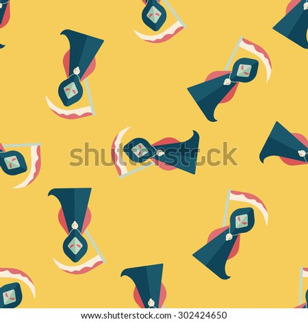 Grim Reaper flat icon,seamless pattern background - stock photo