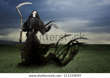 Grim reaper on a dark background