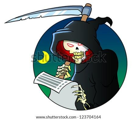 Grim reaper skeleton - stock photo