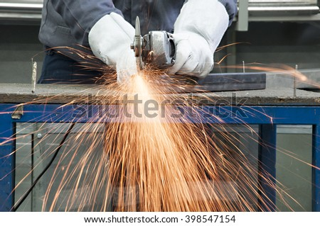 grinding by grinder - stock photo