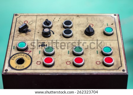 Grinding Machine control panel - stock photo