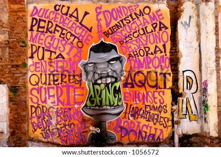 Gringo Street Art - stock photo