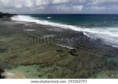 Gris Gris Beach, cape on South of Mauritius
