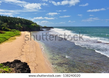 Gris Gris beach on South of Mauritius, Africa - stock photo