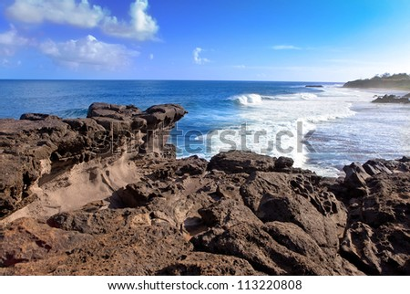 Gris Gris cape on South of Mauritius. - stock photo