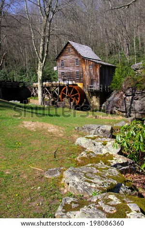 Grist glade creek mill in West Virginia - stock photo