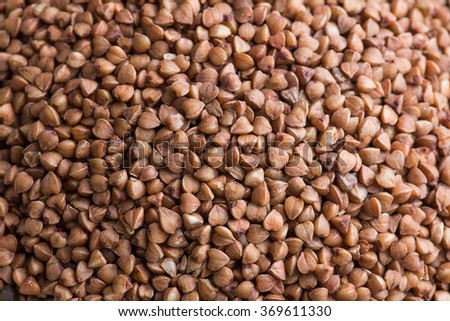 Groats collection on wooden background