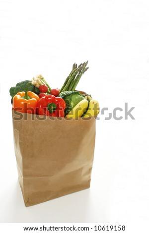 Groceries bag - stock photo