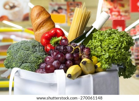 Groceries, Healthy Eating, Food. - stock photo