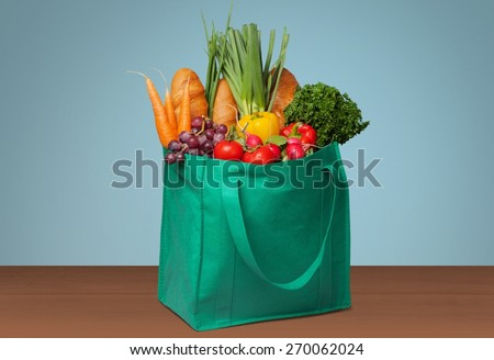 Groceries, Shopping, Bag. - stock photo