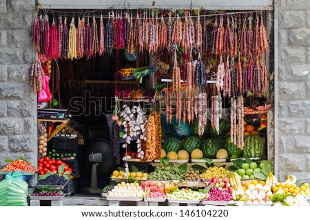 Grocery in Tbilisi, Georgia - stock photo