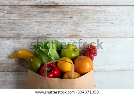 grocery shopping concept photo - stock photo
