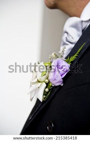 Groom corsage - stock photo