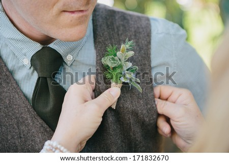 Groom's Boutonniere  - stock photo