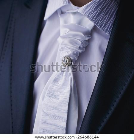 Groom with tuxedo - stock photo