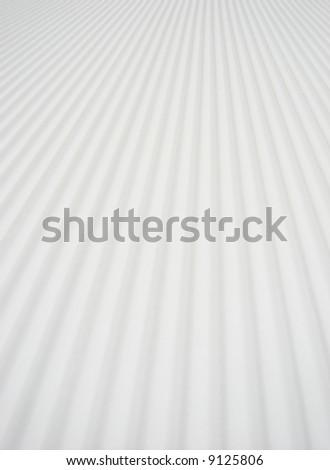 Groomed snow - stock photo