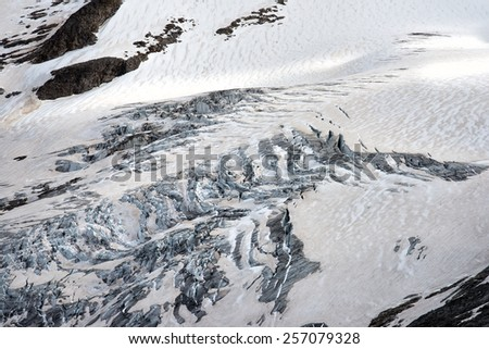 gross venediger glacier at summer time