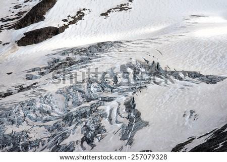 gross venediger glacier at summer time - stock photo