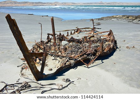 Grosse Bucht Bay Namibia - stock photo