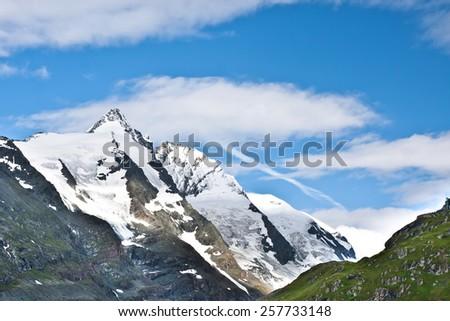 Grossglockner: Highest mountain in Austria - stock photo