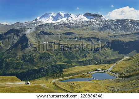 Grossglockner road. The Grossglockner high alpine road is the highest mountain road in Austria. Hohe Tauern National Park, Austrian Alps, Austria - stock photo