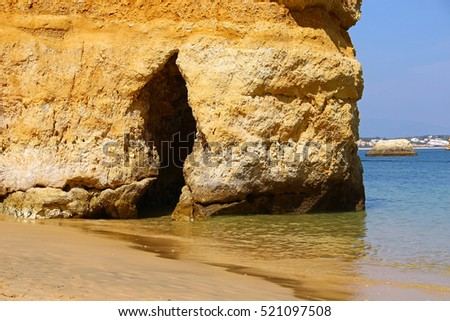 Grotto on Camilo beach (Praia do Camilo) in Lagos, Algarve, Portugal