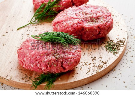 ground beef hamburger  - stock photo