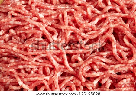 Ground beef. Minced meat close up - stock photo
