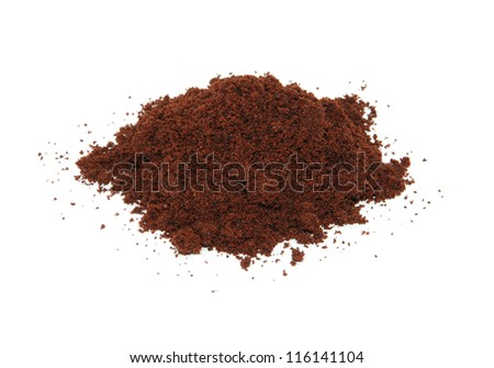 Ground cloves, isolated on a white background