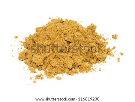 Ground cumin, isolated on a white background - stock photo