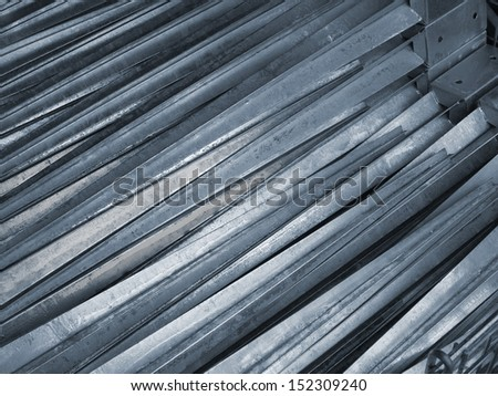 ground felling sleeves of galvanized metal for wood posts - stock photo