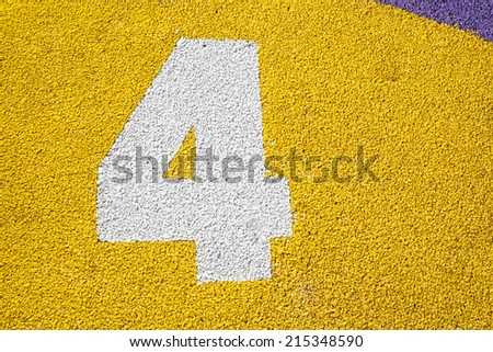 Ground game with numbers - stock photo