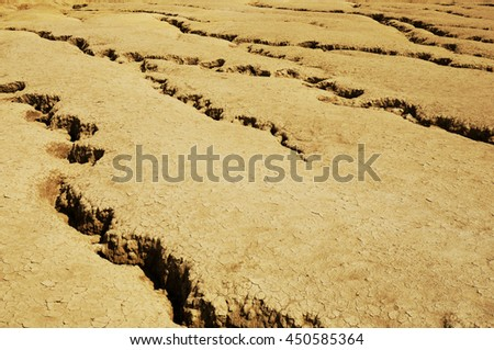 Ground in drought, soil texture and dry mud