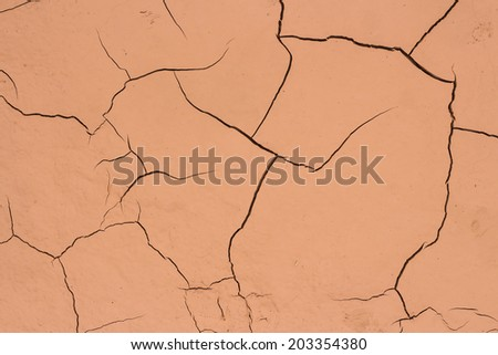 Ground is caused by the dry times of no rain. - stock photo