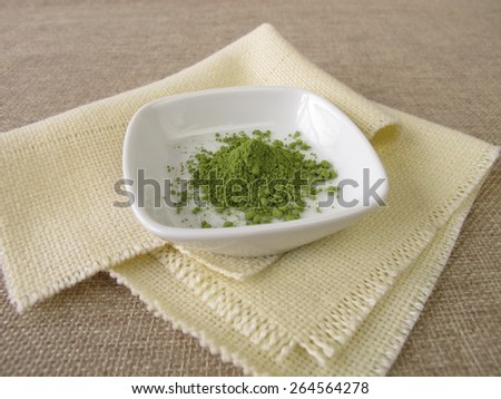 Ground matcha tea powder - stock photo