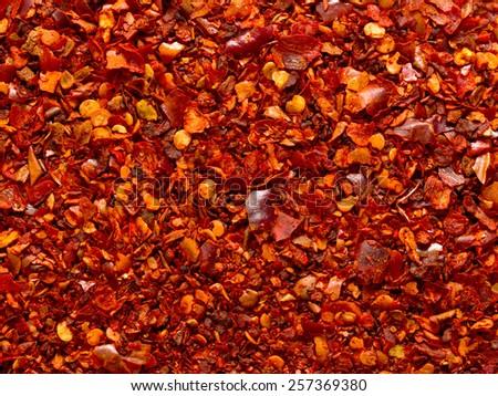 ground red chili background - stock photo