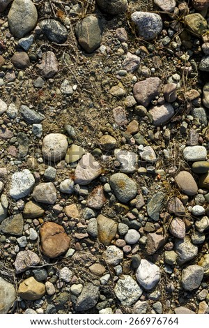 Ground Stone Dirt Texture/ Look under legs - stock photo