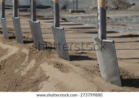 groundbreaking ceremony - stock photo