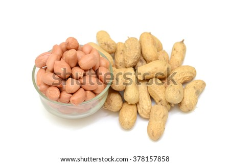 Groundnuts isolated on white background