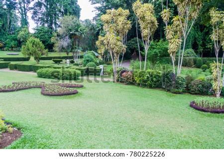 Grounds Beautiful Peradeniya Royal Botanical Gardens Stock Photo ...
