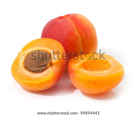 Group apricot on a white background
