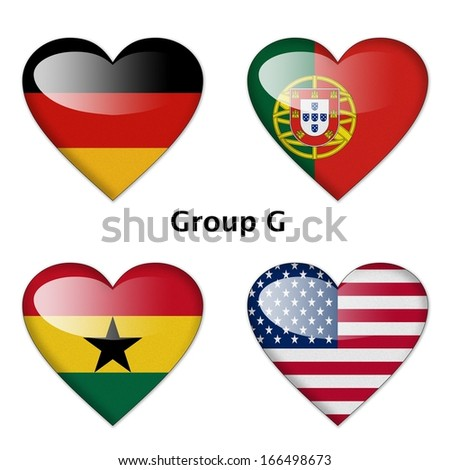 Group G final : Germany, Portugal, Ghana, and USA