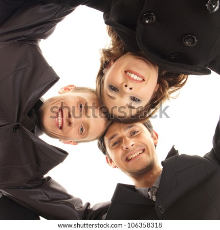 Group handshake with a lot of different hands - stock photo
