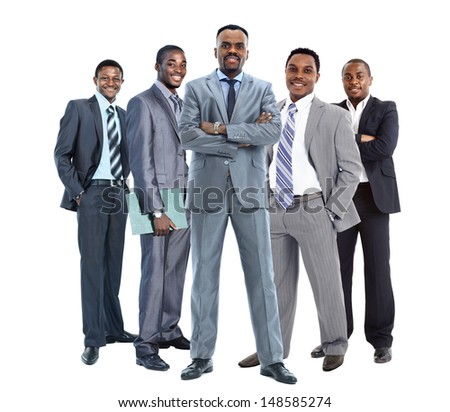 group of african american businessmans - stock photo