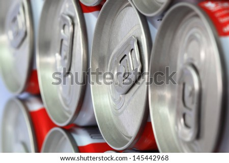 Group of an aluminum can - stock photo